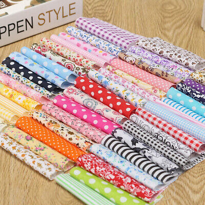 100pcs 10x10cm Fabric Patchwork DIY Floral Cotton Sewing Cloth Quilt Quilting
