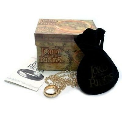 Signore RINGS SINGLE Ring and NECKLACE The One Ring OFFICIAL Original LORD RINGS