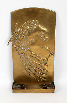 Glasgow School Arts and Crafts Brass Bird Parrot Sconce Gilmour Guild