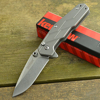 Kershaw Dimension Titanium Handle Stonewash Finish 8Cr13MoV Knife 3810