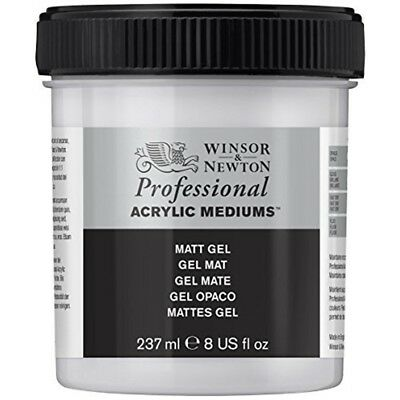 Winsor & Newton 3040915 Professional Acrylic Medium Matt Gel, 237ml - Gel