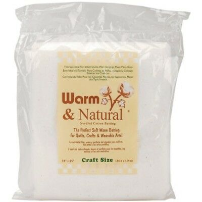 "Warm Company Warm And Natural Cotton Batting, Multi-colour, 34""x45"" -"
