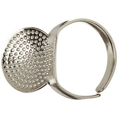 Clover 611 Adjustable Ring Thimble With Plate - Leather Thimbles