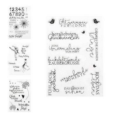 Thanks Transparent Silicone Clear Stamps for DIY Scrapbooking Album Card DecorHC
