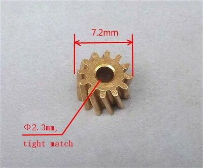 1pcs Metal Slanted Gear 12T teeth 0.5M Modulus Aperture 2.3mm,DIY