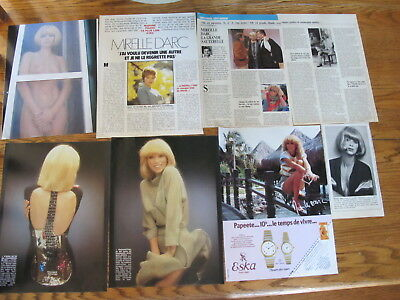 Mireille D'arc French Clippings + Big Promo Poster