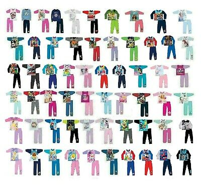 Boys Girls Character Pyjamas Kids Toddler Baby Child's Children's Pjs 1-12 Years