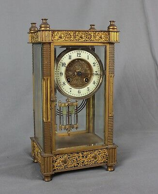 19th Century French Four Glass Mantle Clock