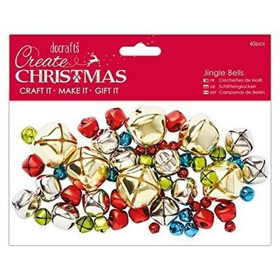 Jingle Bells 60pcs - Create Christmas - Papermania Decorative Gold Pcs