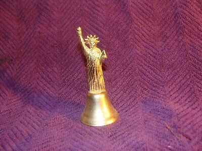 "3.5"" Statue Of Liberty Metal - Brass Bell"