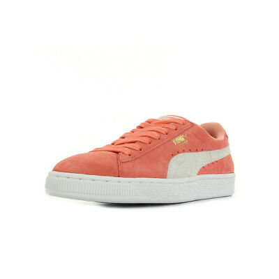 ff2fb3fe5ab7 Chaussures Baskets Puma femme Suede Classic Wn's taille Rose Cuir Lacets