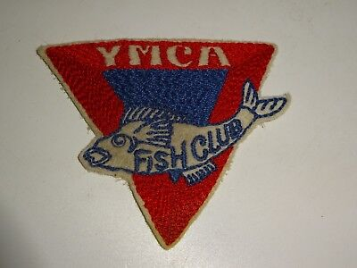 vintage YMCA Fish Club sew on patch