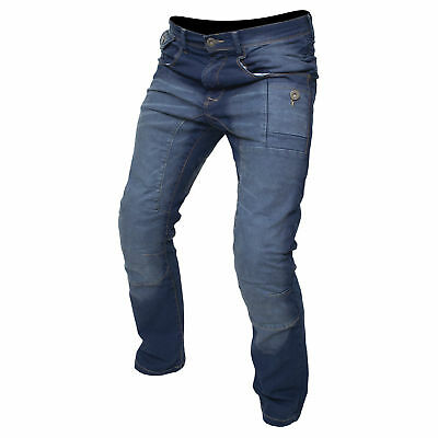 "ARMR ""Tron"" M799 Motorbike Motorcycle CE Armoured Aramid Denim Jeans Trousers"