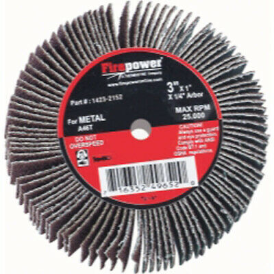 "Firepower 1423-2152 Flap Wheel, 3"" X 1"", 80 Grit"