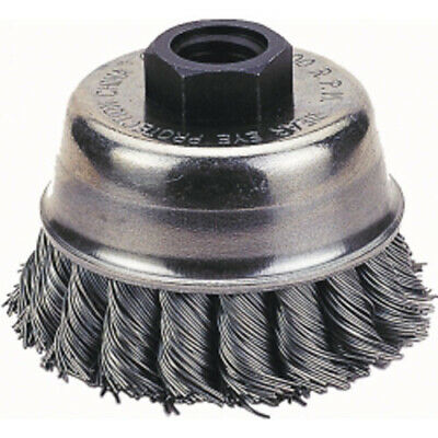 "Firepower 1423-2115 Cup Brush, 4"" Knotted Wire"