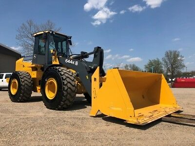 2014 John Deere 644K Wheel Loader ONLY 222 ORIGINAL HOURS Cab AC Rubber Tire 4x4