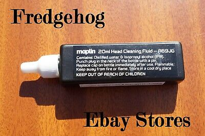 20Ml Bottle Of Video Head Cleaning Fluid For Use With 'wet' Cleaner Tapes