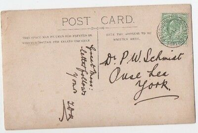 Railway Postmark On Postcard Peterborough Sorting Tender Gb Postal History 1905