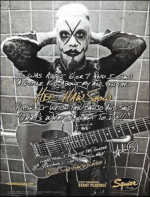 John 5 Lowery (Rob Zombie) 2011 Fender Squier guitar ad 8 x 11 advertisement