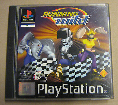Videogame RUNNING WILD Playstation 1 PS1 PSX PSONE PS1 USED LIKE NEW 1st print