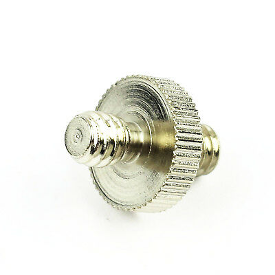 "New 1/4"" Male to 1/4"" Male Threaded Double Male Screw Convert Adapter For Camera"