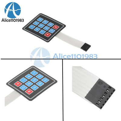 2PCS 4x3 Matrix Array 12 Key Membrane Switch Keypad Keyboard for Arduino/AVR