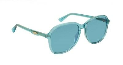 df7f3ec5d2 GUCCI GG0087S 0087S 001 AVANA LIGHT BLUE  FLIP UP 0087 SunglaSSeS ...