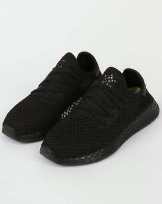 f6ce7e627 adidas Deerupt Runner Trainers in Black - lightweight modern sneaker mesh  SALE