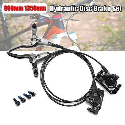 Hydraulic Disc Front 800mm+Rear 1350mm Set MTB Oil Brake Mountain Bike Calipers