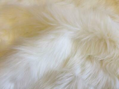 Super Luxury Faux Fur Fabric Material - SUPERIOR LONG PILE WHITE