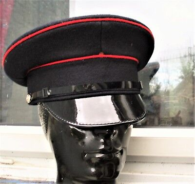 e8f5d82faf7 57 M PEAKED CAP HAT BRITISH ARMY Royal Engineers Military VISOR bikers  festivals