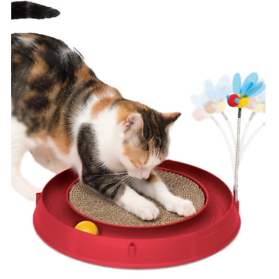 Catit Circuit Ball Cat Toy with Scratch Pad 3 in 1