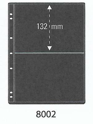 PRINZ PRO-FIL 2 STRIP BLACK STAMP ALBUM STOCK SHEETS Pack of 5 Ref No: 8002