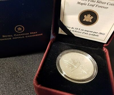 2011 Canada 1/2 oz Maple Leaf Forever w/ Box and COA .9999 Fine Silver Bullion