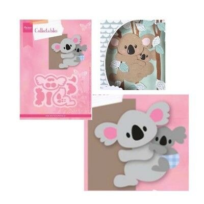Koala and Baby metal die cut set Eline's Cutting Dies Marianne COL1448