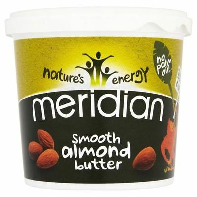Meridian Smooth Almond Butter 100% Nuts 1kg - Pack of 6