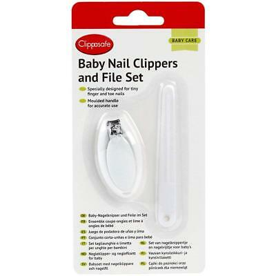 Clippasafe Baby Nail Clippers and File Set for Finger and Toe Nails