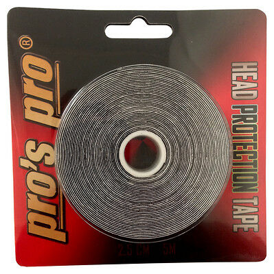 Pro's Pro Head Protection Tape - Tennis Racket Head Tape - Black - Free P&P