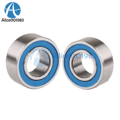 5PCS MR105-2RS Miniature ball Bearings with blue Plastic cover 5*10*4mm