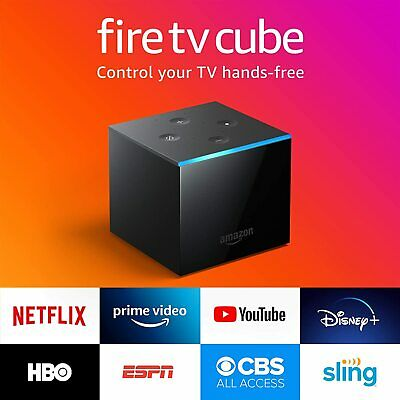 Fire TV Cube Hands-Free with Alexa and 4K Ultra HD includes All New Voice Remote