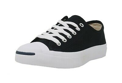 CONVERSE Jack Purcell Black Canvas Lace Up Fashion Sneakers Adult Men Shoes