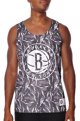 Brooklyn Nets Technical Foul Tank Top Reversible Shirt Mens Mitchell and Ness
