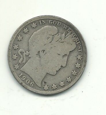 A Vintage Very Good Vg 1906 D Barber Silver Half Dollar-Jan351