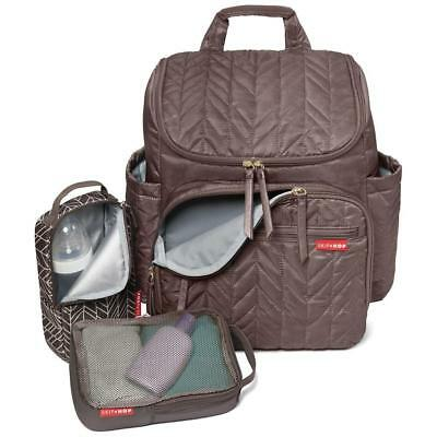 Skip Hop Duo Skip Hop Forma Backpack NEW, Latte with Changing Pad