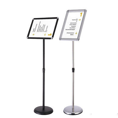 New Adjustable Sign Holder Pedestal Telescoping Stand 360°Swivel A4/ A3 Frame