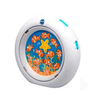 Claessens'Kids Lámpara Quitamiedo Luz de Noche Kid'Sleep My Aquarium Blanco 0024