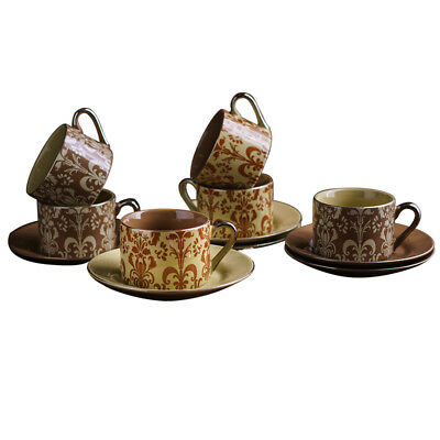 12-piece Espresso Coffee Mug & Saucer Set w/Box Great Gift for Lover Christmas