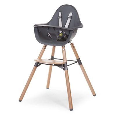 Trona para Bebé 2-in-1 Ajustable Evolu 2 Antracita Silla CHILDWOOD CHEVOCHNA