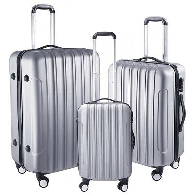 3pcs/Set Travel Luggage Suitcase Trolley Lock Case Carry On Bag Hard Lightweight