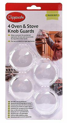​Clippasafe Oven and Stove Transparent Safety Control Knob Guards​
